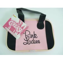 50's Style Retro Pink Lady Bag - Bowling Ladies Grease Fancy Dress Smiffys -  pink bag bowling ladies grease fancy dress smiffys lady accessory