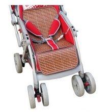 Summer Carts Mats Reusable Stroller Bamboo Mats Liner for Stroller(Brown)