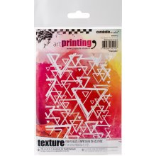 Carabelle Studio Art Printing A6 Rubber Texture Plate-Triangles