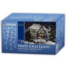 Christmas Workshop Xmas 720 LED Icicle Chaser Lights - Bright White