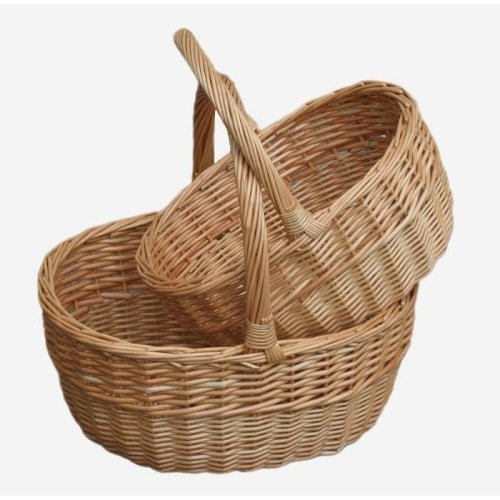 Shopping Basket Buff Oval Shopper Set 2
