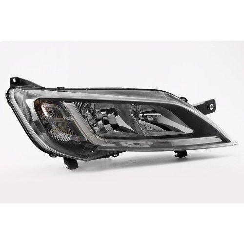 Headlight right black Peugeot Boxer 14-17