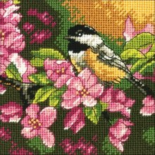 * Dimensions Needlepoint Kit -Chickadee in Pink