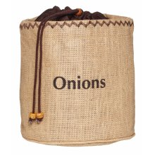 """kitchen Craft""""Natural Elements"""" Onion Preserving Bag with Blackout Lining, Textile, Brown, 20 x 20 x 20 cm"""