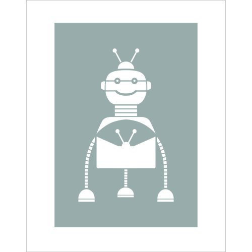 SPARKY ROBOT Furniture Wall Floor Stencil for Paint