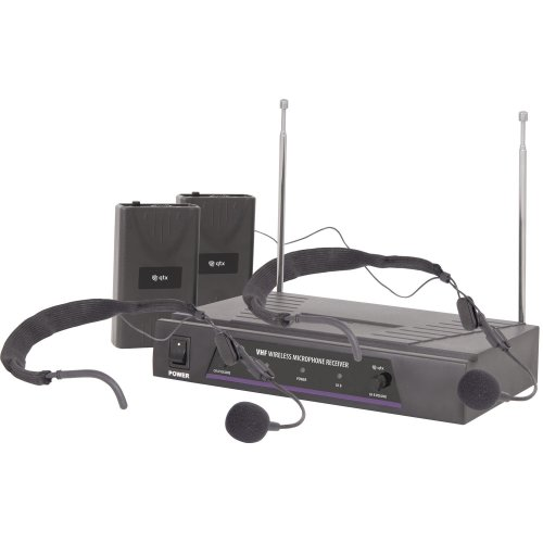 Dual Neckband Microphone VHF Wireless System