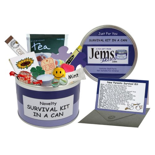 Mum To Be Survival Kit In A Can. Humorous Novelty Fun Gift - New Parent/Mother. Baby Shower/Maternity Present & Card All In One. Customise Your Can...