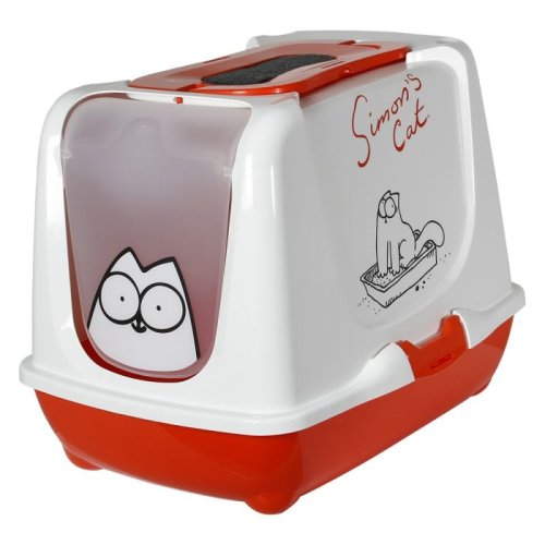 Hooded Cat Litter Tray with FREE 3 Replacement Carbon Filters