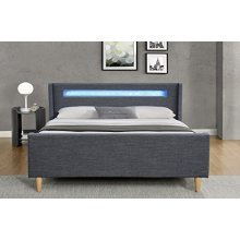 Scandi Style LED Vogue Bed Frame Linen Fabric