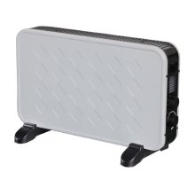 2000W Portable White Electric Convector Thermostat Heater Winter 2Kw Stylish