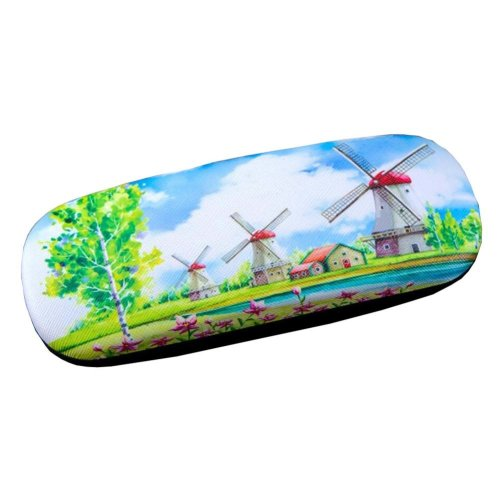 PU Leather Hard Shell Eyeglass Case Glasses Storage Case Protective Case for Glasses Cartoon Windmill - 03