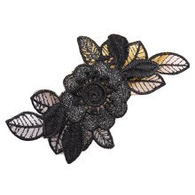 Black Lace Flower Custom Patches Sticker Sew On Applique-03