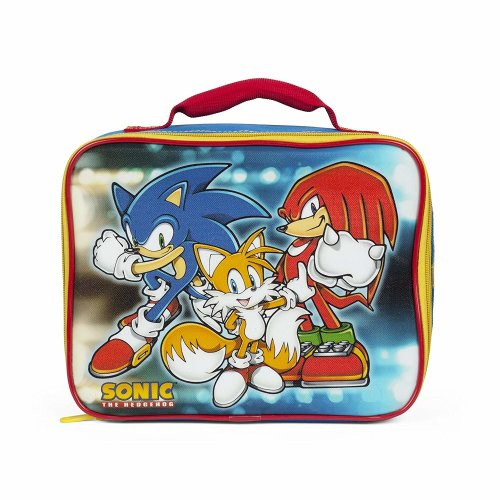 Lunch Bag - Sonic the Hedgehog - w/Tail+Kunckles Yellow New 864597