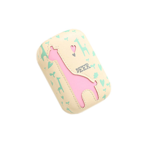 Cute Cartoon Pattern Creative Contact Lens Case Storage Holder for Lens Caring, Deer Pink 8.3x5.5cm