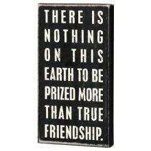 Primitives Box Sign - True Friendship