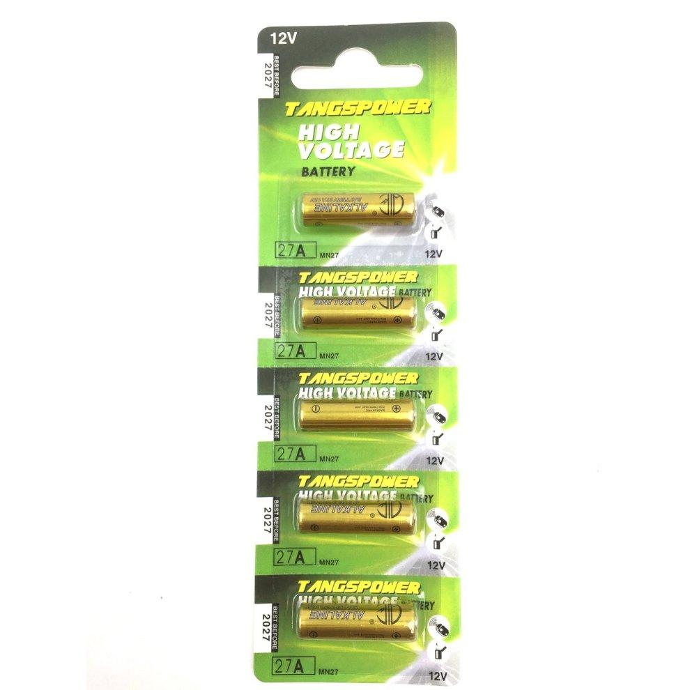 Alkaline Battery 27a 12v Paquet De 5 Tp27a C5 Mn27 A27