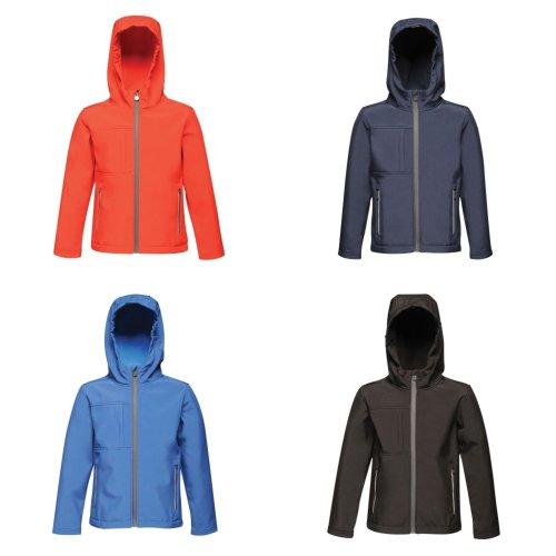 Regatta Childrens/Kids Octagon 3 Layer Hooded Softshell Jacket