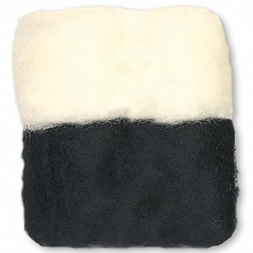 D72-73839 - Dimensions Wool Roving - Rolls: Bulk White and Black