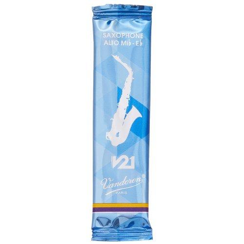 Vandoren SR8125 Strength 2.5 V21 Alto Saxophone Reeds, Set of 10 Pieces