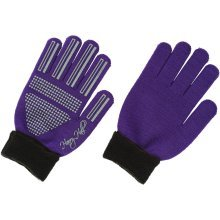 Harry Hall Ladies Fold Over Cuff Gloves: Mauve