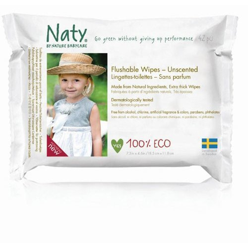 Nature Baby  Flushable Family Wipes 220g