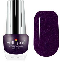 Bellepok 10-FREE Nail Polish - Purple Gem | Non-Toxic Purple Glitter Nail Varnish