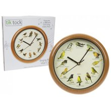 Singing Bird Wall Clock - Birds Hour Every Sleep Mode Battery Sounds 12 Song -  singing wall clock birds hour every sleep mode battery sounds 12 song