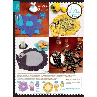 Placemat, Coaster  and Silverware Case-One Size Only -*SEWING PATTERN*