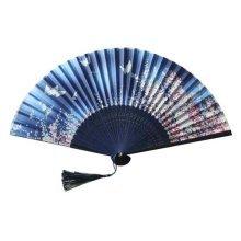 Colorful Folding Fan for Women Holding Painted Fan Beautiful Handheld Fan