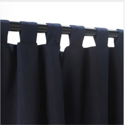 Outdoor Curtains CUR84NVS 54 in. x 84 in. Sunbrella Outdoor Curtain with Tabs - Navy