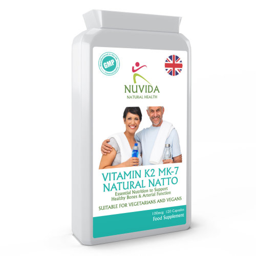 Vitamin K2 MK-7 / 120 x 100mcg Capsules / Derived from Natural Natto