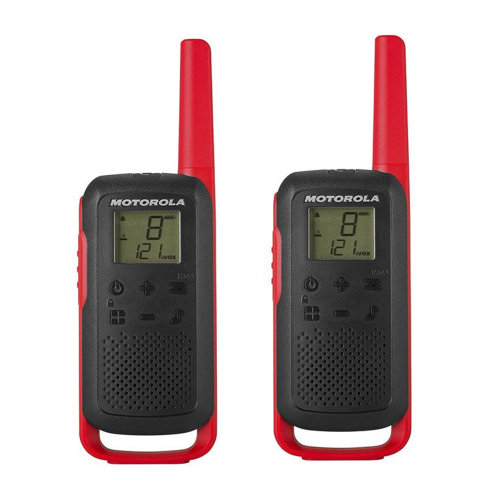 Portable PMR radio station Motorola TALKABOUT T62 RED set with 2 pcs