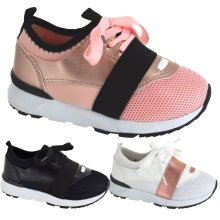 GIRLS LACE UP BAIL RUNNING SPORT WALKING TRAINERS