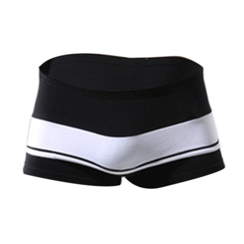 Cotton Flat Angle Sexy Pants Printed Striped Male Underwear BK L