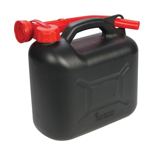 5 Litre Black Plastic Fuel Can - Silverline 5ltr 199991 -  fuel plastic can silverline black 5ltr 199991