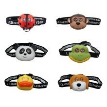 Clulite kids animal LED headtorch - childrens head lamp LED torch headlight