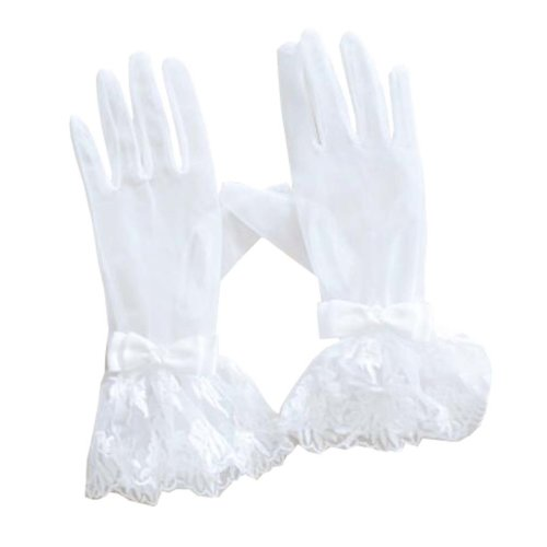 Women's Evening Party Lace Finger Gloves(Short) Gloves For Wedding Prom Party,A4