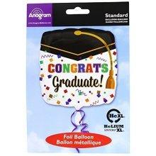 Confetti Graduate Standard Foil Balloon