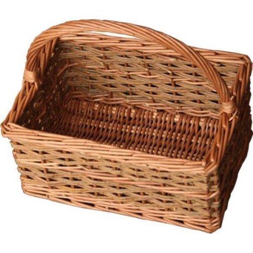 Small Rustic Rectangular Shopping Basket