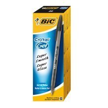 Bic Cristal Medium Gel Black (pack of 20)