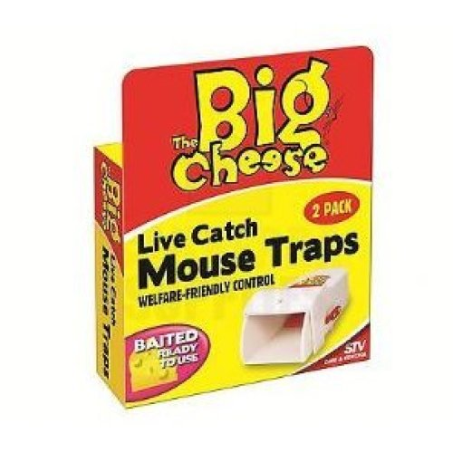 Live Catch Ready To Use Mouse Traps - Trap Big Cheese Pack Twin Stv Stv155 -  mouse live catch trap big cheese pack ready twin stv stv155 traps
