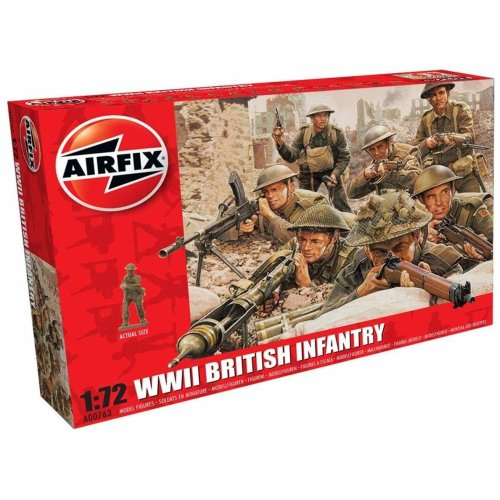 Airfix A00763 WWII British Infantry North Europe 1:72 Scale