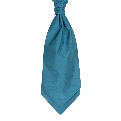 Teal Blue Self Tie Shantung Cravat #WCS1867/2