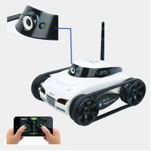 Remote Radio Control WIFI i-Spy Tank White Edition Iphone Ipad