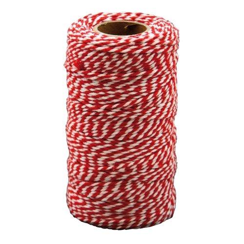 Pbx2471183 - Playbox - Cotton Twine, Red & White, 100 Mtrs X 2mm