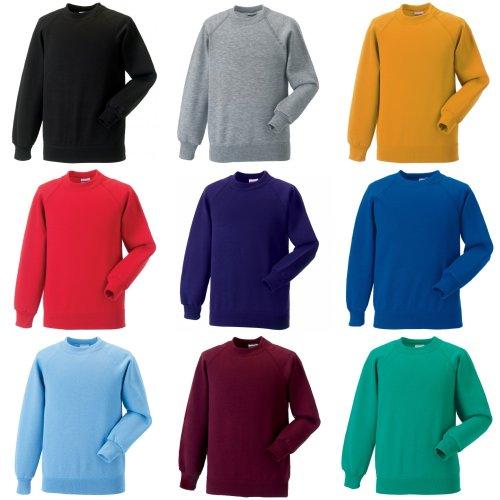 Jerzees Schoolgear Childrens Raglan Sleeve Sweatshirt (Pack of 2)