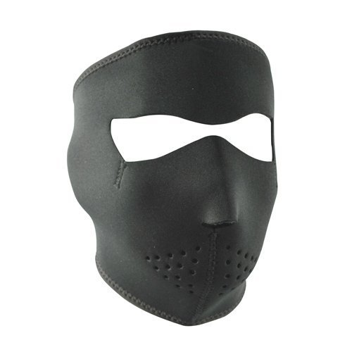 Full Face Microfleece Lined Neoprene Ski Mask - Black