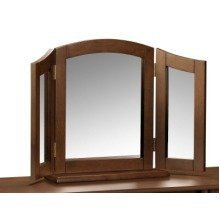 Minu Wood Triple Mirror Wenge Finish Fully Assembled