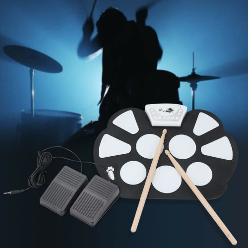 New Portable Electronics Silicone Can Roll Drums Drum Pad Simple And Practical