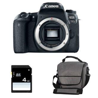 Canon EOS 77D Camera Body, Bag & SD Card Bundle